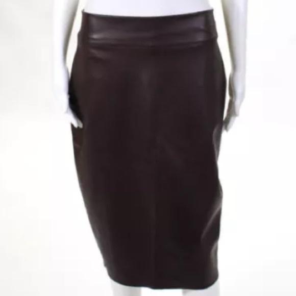 541109450b Bailey 44 Skirts | Nwt Vegan Pencil Skirt In Dark Red | Poshmark